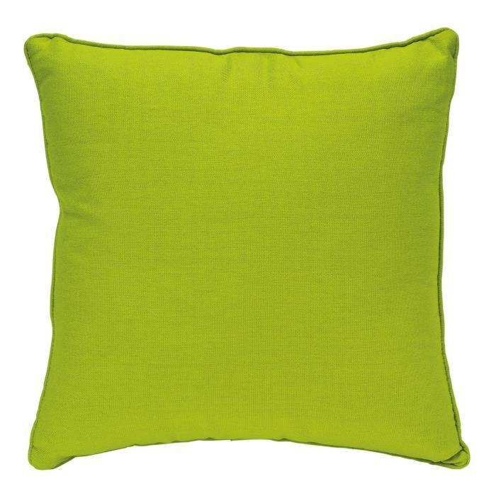 Coussin 60x60 coton unity vert achat vente coussin - Coussin tapissier 60x60 ...
