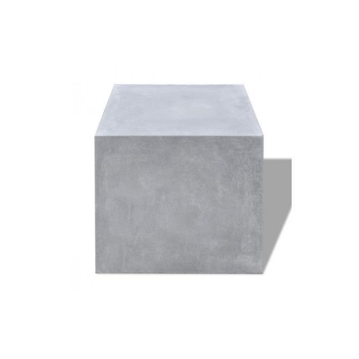 tabouret de jardin cube en b ton table d 39 appoint achat. Black Bedroom Furniture Sets. Home Design Ideas