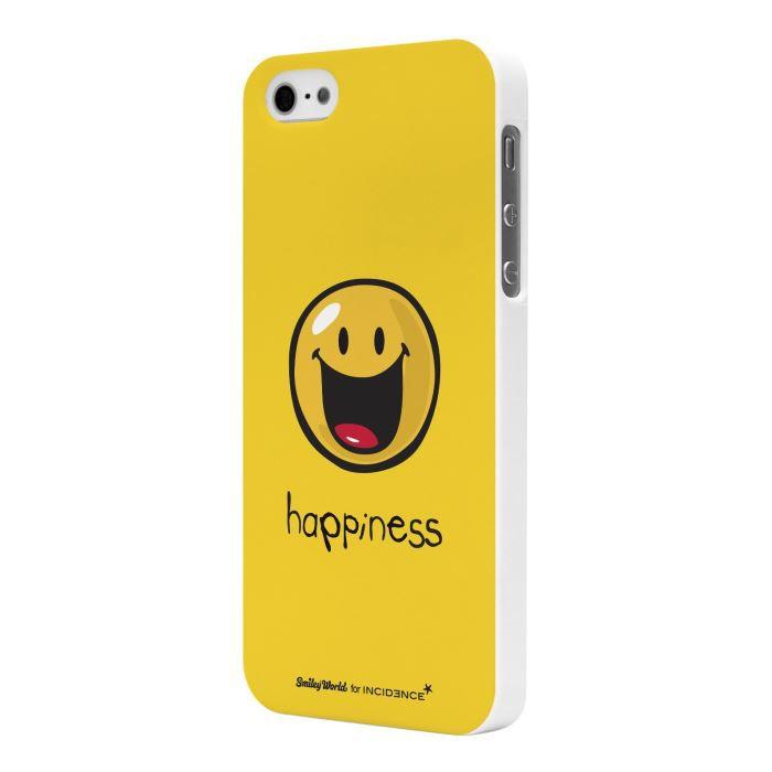 coque iphone 5 5s smiley happiness achat coque bumper pas cher avis et meilleur prix. Black Bedroom Furniture Sets. Home Design Ideas