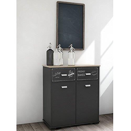 armoire de toilette avec 2 portes et 2 tiroirs achat vente desserte billot armoire de. Black Bedroom Furniture Sets. Home Design Ideas