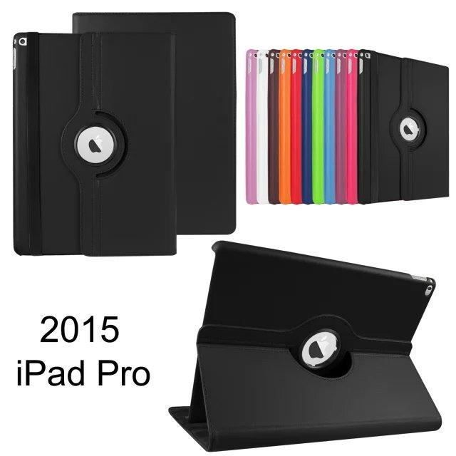 tui ipad pro 12 9 360 rotation housse tui coque cuir support protection pour apple ipad. Black Bedroom Furniture Sets. Home Design Ideas
