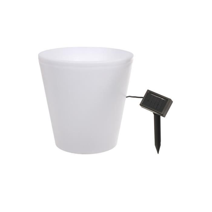 pot de fleur lumineux solaire 28 cm 107571 achat vente pot de fleur lumineux solai cdiscount. Black Bedroom Furniture Sets. Home Design Ideas