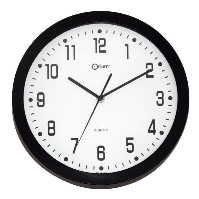 quartz horloge murale d co silencieuse 30cm noir achat. Black Bedroom Furniture Sets. Home Design Ideas