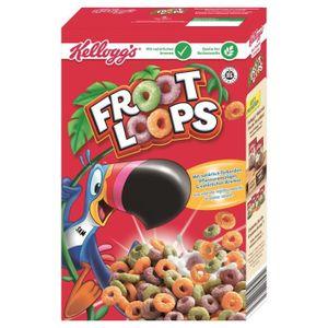 CÉRÉALES PETIT DEJ  Kellogg's Froot Loops céréales pour petit déjeuner