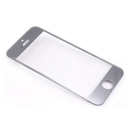 Ecran vitre verre sans tactile couleur argent silver for Application miroir iphone