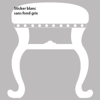 Sticker tabouret pour ambiance baroque d co 60 x 56 - Stickers baroque pour meuble ...