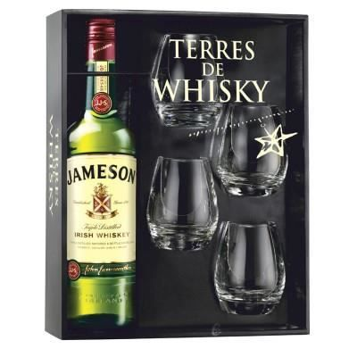 whisky jameson coffret 4 verres achat vente whisky jameson coffret 4 ve soldes d hiver. Black Bedroom Furniture Sets. Home Design Ideas