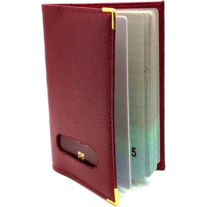 tui pour passeport en cro te de cuir rouge rouge rouge achat vente porte papiers. Black Bedroom Furniture Sets. Home Design Ideas