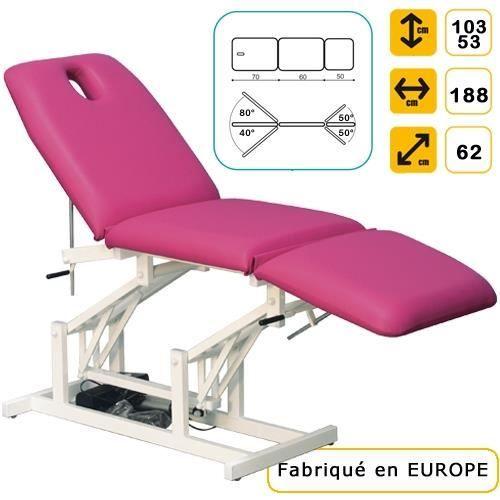 lit de massage lectrique 3 r glages blanc marbr achat vente table de massage lit de. Black Bedroom Furniture Sets. Home Design Ideas