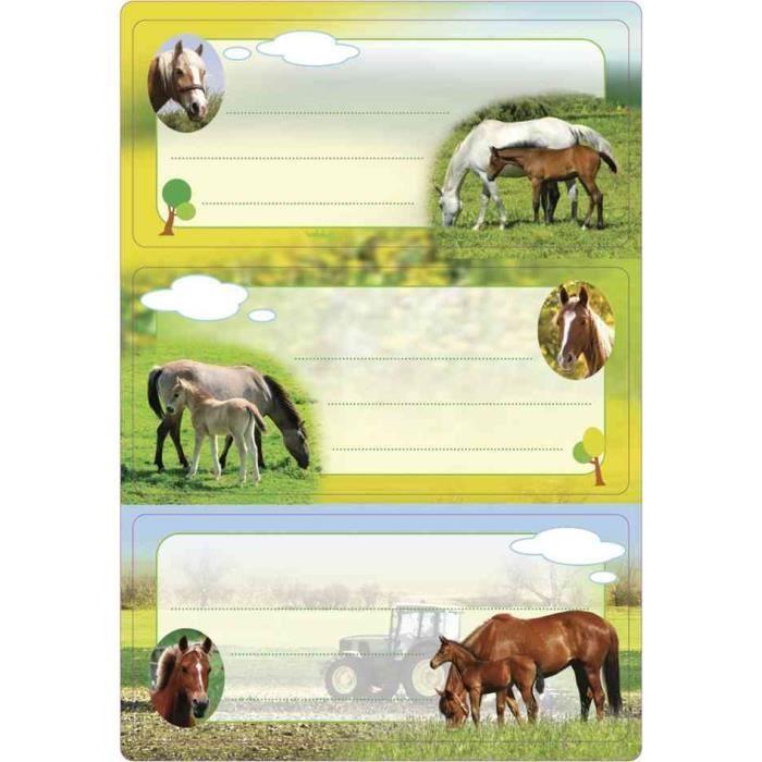 tiquettes pour livres chevaux 70 x 35 mm achat vente tiquette classement tiquettes. Black Bedroom Furniture Sets. Home Design Ideas