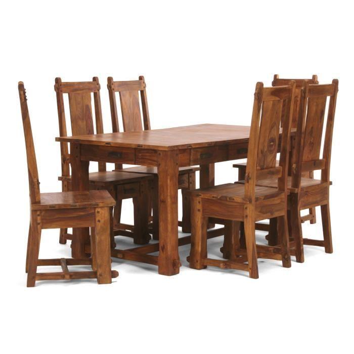 table 150x90 et 6 chaises lisbonne en palissand achat vente table a manger complet table. Black Bedroom Furniture Sets. Home Design Ideas