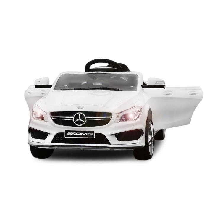 voiture lectrique pour enfant mercedes cla45 blanc achat vente voiture enfant cdiscount. Black Bedroom Furniture Sets. Home Design Ideas