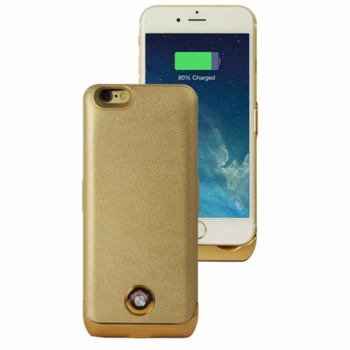 coque rechargeable gold 3000 mah iphone 6 achat coque. Black Bedroom Furniture Sets. Home Design Ideas