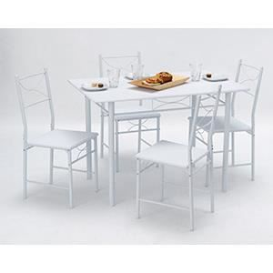 Set table rectangulaire 110x70 4 chaises whitne achat for Set de table rectangulaire