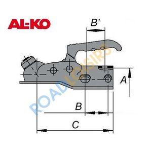 Tête attelage freinée AL-KO AK10-2