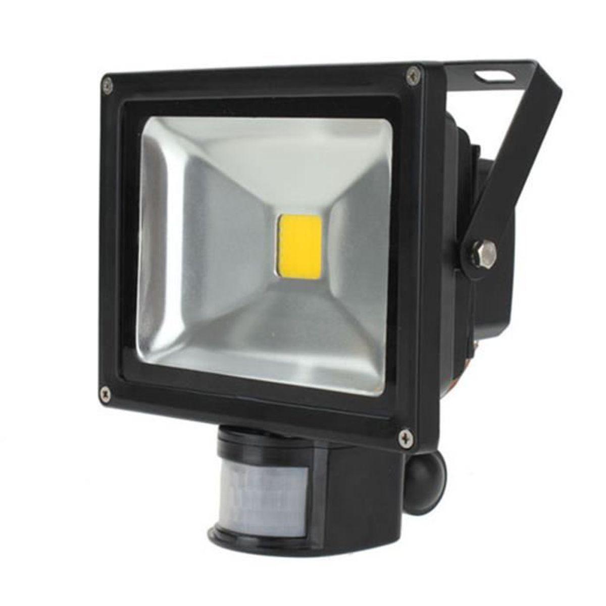 Projecteur led lampe ext rieur d tecteur mouvement 20w for Lampe electrique exterieur