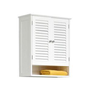 armoire de toilette 2 porte achat vente armoire de toilette 2 porte pas cher cdiscount. Black Bedroom Furniture Sets. Home Design Ideas