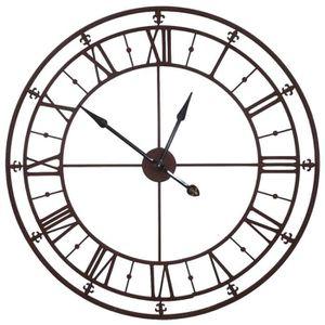 grande horloge en fer achat vente grande horloge en fer pas cher cdiscount. Black Bedroom Furniture Sets. Home Design Ideas
