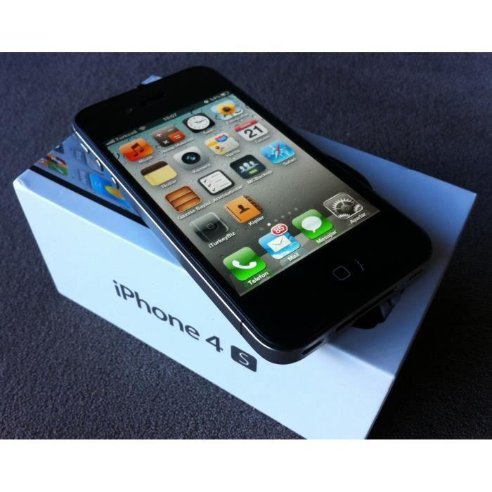 iphone 4s noir 16go pas cher achat smartphone pas cher avis et meilleur prix cdiscount. Black Bedroom Furniture Sets. Home Design Ideas