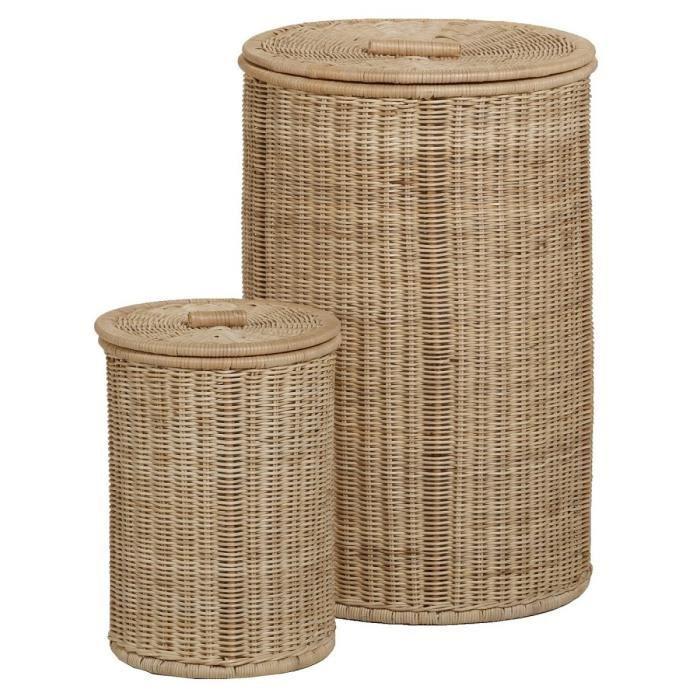 panier linge rond en rotin grand mod le achat vente panier a linge panier linge rond en. Black Bedroom Furniture Sets. Home Design Ideas