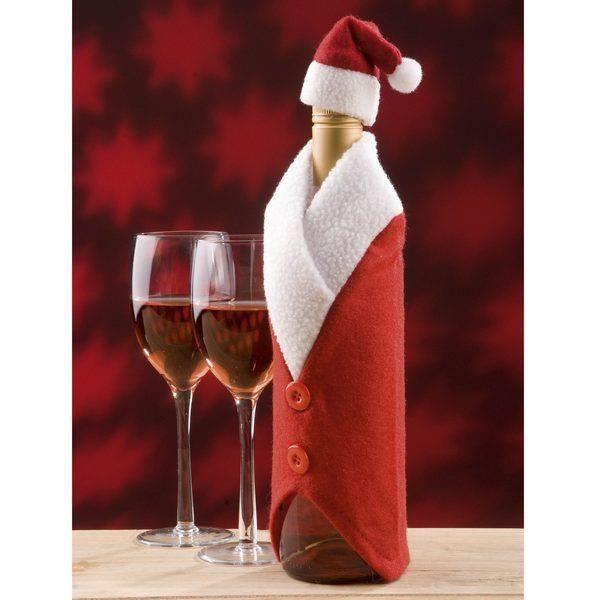 Couvre bouteille Père Noel - Achat / Vente décoration de noël ...