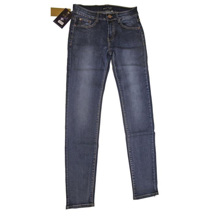 pantalon jeans femme 5 poches taille haute tr s extensible et confortable brut d lav achat. Black Bedroom Furniture Sets. Home Design Ideas