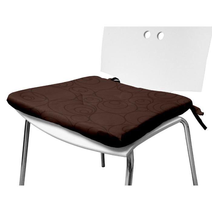 dessus de chaise espace chocolat 40x40 cm achat vente. Black Bedroom Furniture Sets. Home Design Ideas