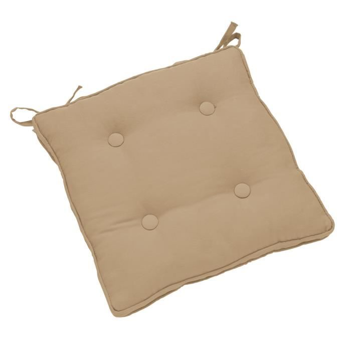 Galette de si ge star 38 cm taupe achat vente coussin for Galette de chaise taupe