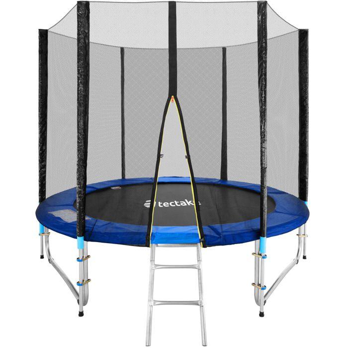 Trampoline de jardin complet rond 244 cm avec filet de s curit et chelle - Filet trampoline 244 ...