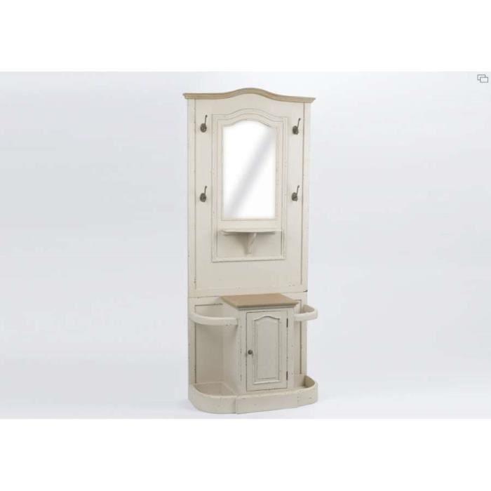 Meuble d 39 entr e beige avec miroir amadeus gamme achat for Petit meuble d entree