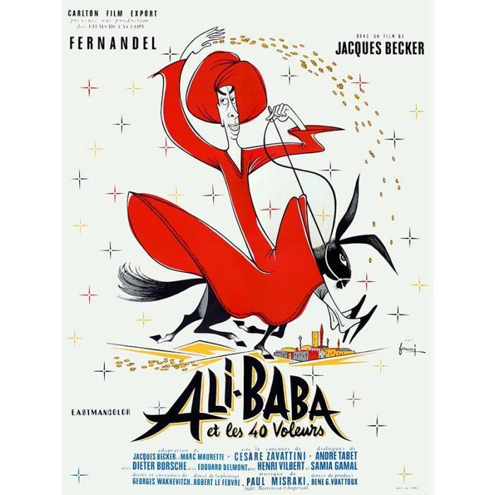 ali baba et les 40 voleurs repro poster cin 60x80 achat vente affiche cdiscount. Black Bedroom Furniture Sets. Home Design Ideas