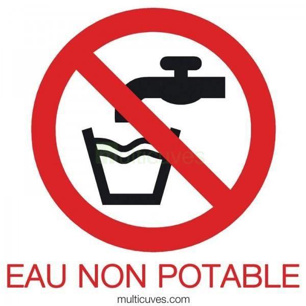 Lot 3 autocollants de signalisation eau non potable achat vente collecteu - Cuve eau potable enterre ...