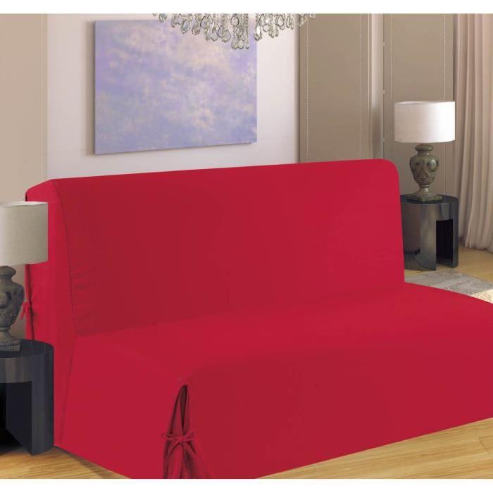 Housse de canap bz 140x190 cm rouge achat vente for Housse canape bz 140