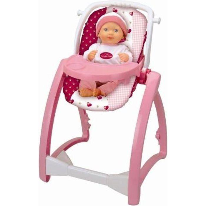 princess coralie chaise haute 4 en 1 achat vente accessoire poupon cdiscount. Black Bedroom Furniture Sets. Home Design Ideas