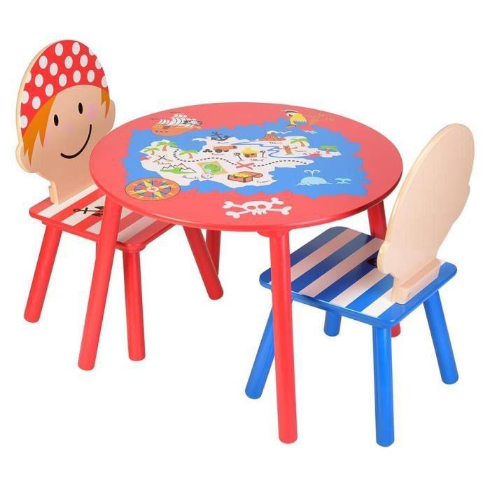 Salon pour enfant pirates 1 table et 2 chaises achat for Table et chaise pour enfants