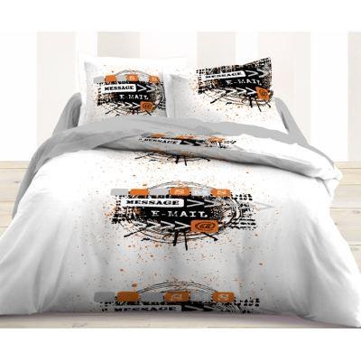 housse de couette et taie d 39 oreiller email achat vente parure de couette cdiscount. Black Bedroom Furniture Sets. Home Design Ideas