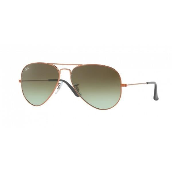 ray ban pas cher aviator  lunettes de soleil ray ban aviator large metal rb3025 9002a6 58