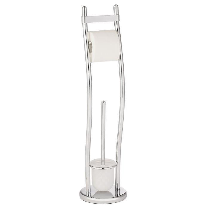 Ensemble wc sur pied exclusif vivero chrome achat vente set accessoires - Ensemble accessoires wc ...