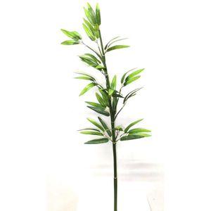 Tige de Bamboo fine artificielle avec feuilles - Hauteur 115 cm