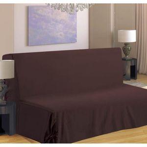 Housse de canapé BZ 100% polyester de coloris chocolat. Cette housse vous permettra de donner une seconde jeunesse ? votre salon. Lavable en machine ? 30°C. Dimensions : 140x190 cm.