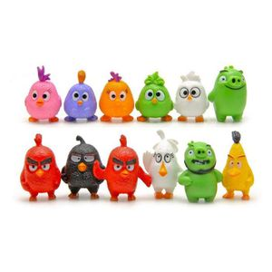 FIGURINE - PERSONNAGE Angry Birds Figurines - 12 pièces Set PVC Personna