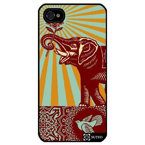 telephonie accessoires portable gsm coque iphone  s elephant obey ref f auc