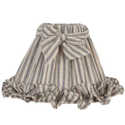 abat jour avec noeud tissu rayure beige et bleu achat vente abat jour avec noeud tissu. Black Bedroom Furniture Sets. Home Design Ideas