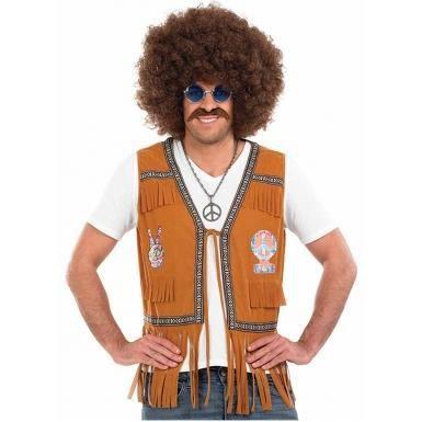veste franges marron hippie homme taille xl achat vente d guisement panoplie cdiscount. Black Bedroom Furniture Sets. Home Design Ideas