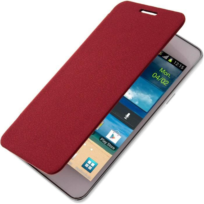 Etui clapet folio samsung galaxy s2 rouge achat for Housse samsung galaxy s2