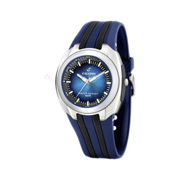 montre calypso k5501 2 homme tendance achat vente montre homme adulte bleu r sine soldes. Black Bedroom Furniture Sets. Home Design Ideas