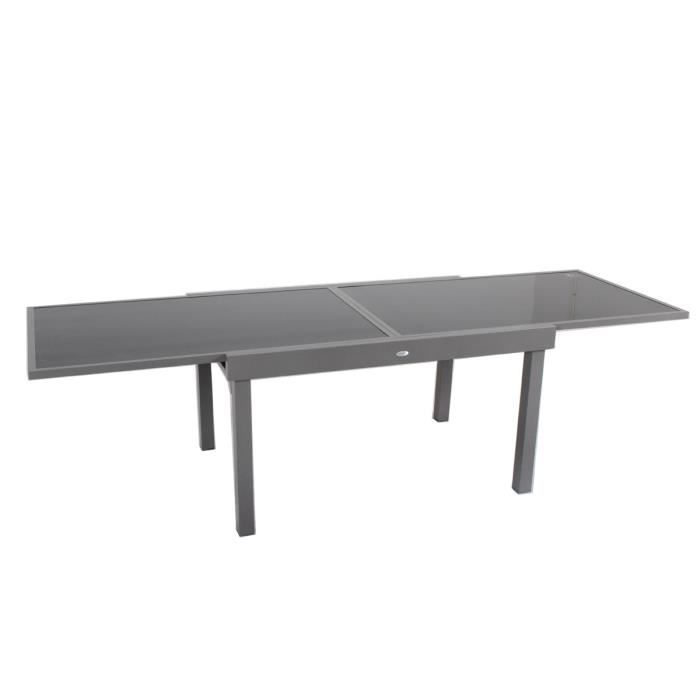 Table rectangulaire piazza 6 10 places taupe hesp ride for Table 6 places
