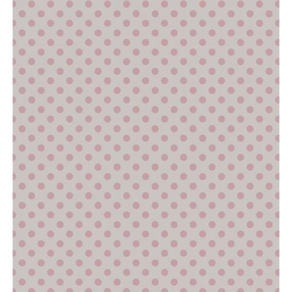 Papier peint enfant gris pois rose lilipinso achat - Achat papier peint ...