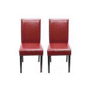 chaises de salle a manger cuir rouge achat vente chaises de salle a manger cuir rouge pas. Black Bedroom Furniture Sets. Home Design Ideas