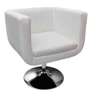 fauteuil design blanc achat vente fauteuil design blanc pas cher cdiscount. Black Bedroom Furniture Sets. Home Design Ideas